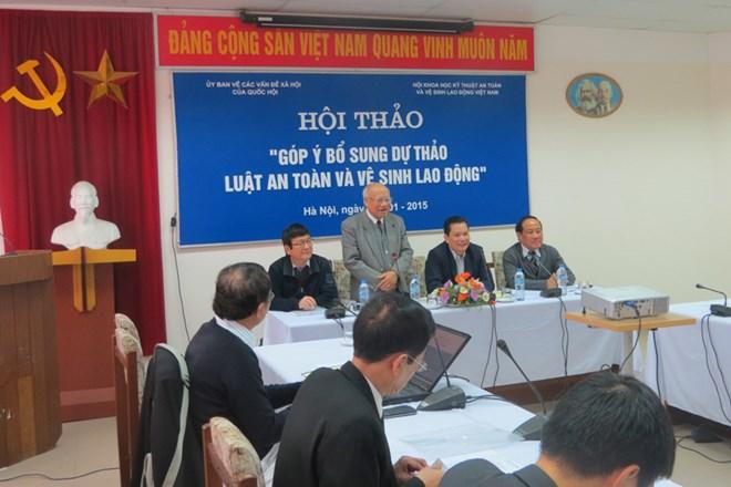 hội thảo góp ý về lất an toàn lao động