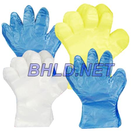 găng tay nylon màu